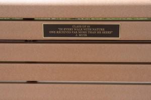 Memorial Bench Placard